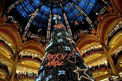 En Galerías  Lafayette  (l'arbre de Noël)